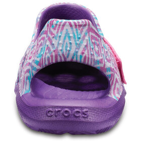 Crocs Swiftwater Wave Graphic Slippers Kinder amethyst